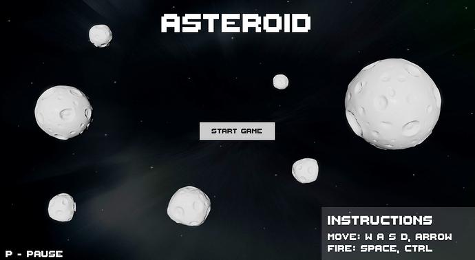 RetroAsteroid-Armory3D