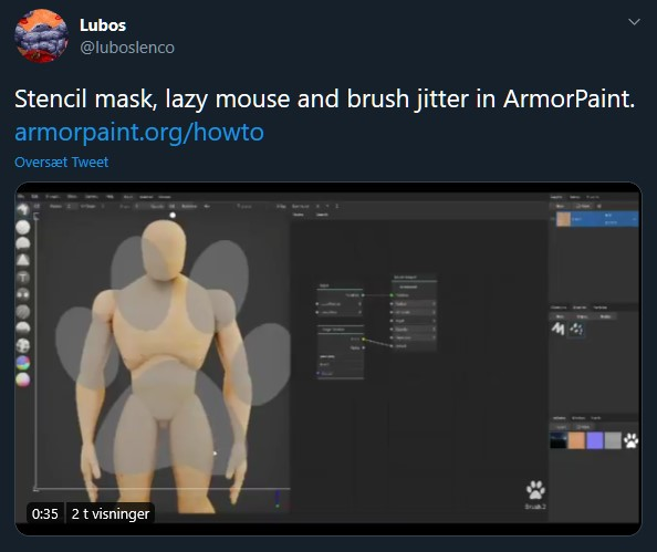 Brush jitter