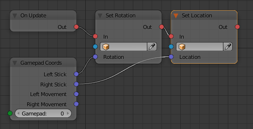How to add virtual gamepad using node system? i canot figure
